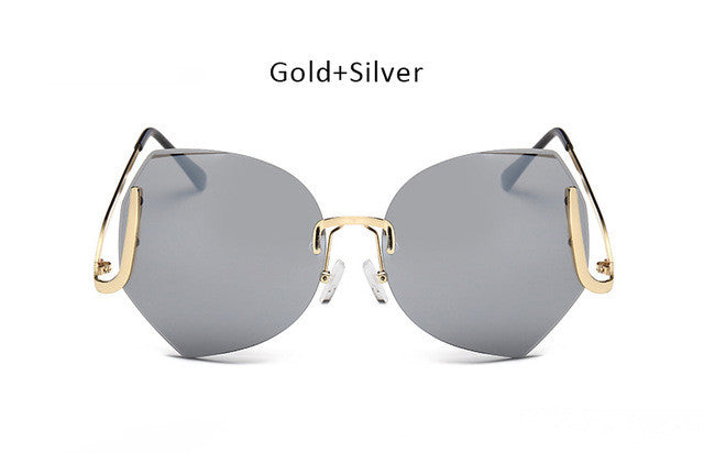 Oversized Diamond Cut Sunglasses