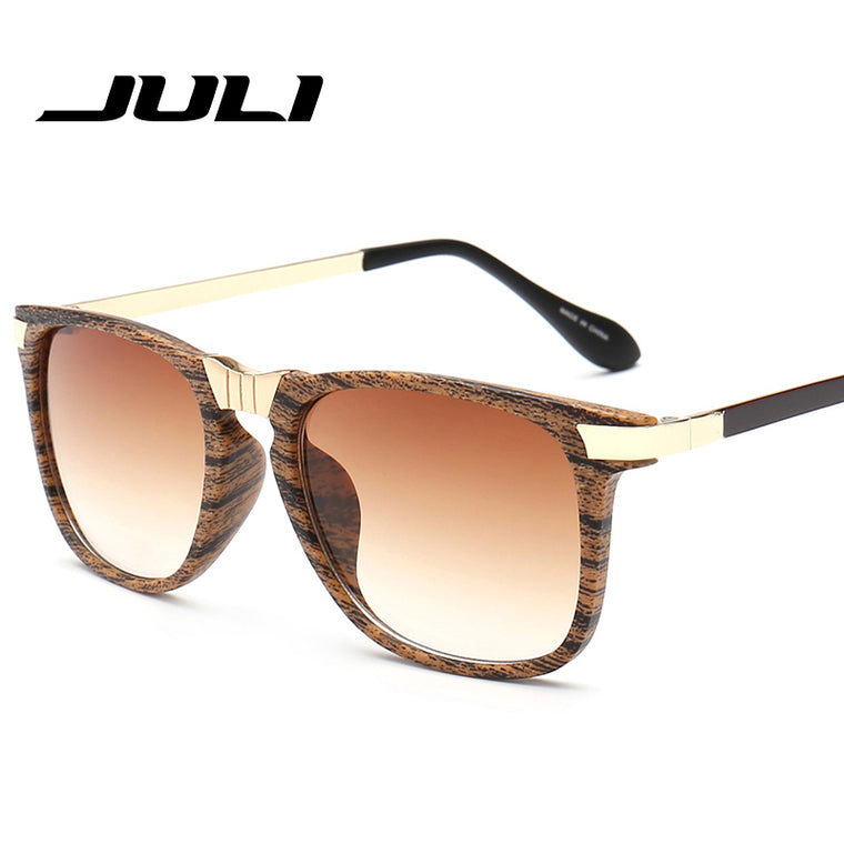 Sophisticated Wood Grain Sunglasses