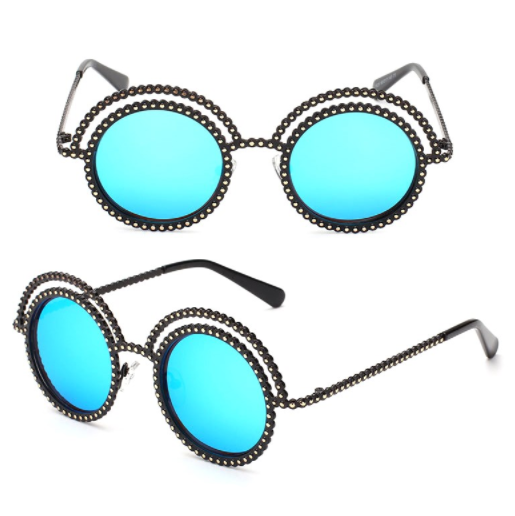 Luxury Bead Rim Sunglasses