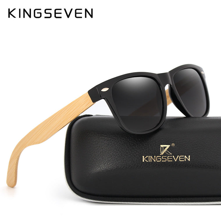 Retro Bamboo Sunglasses with Case
