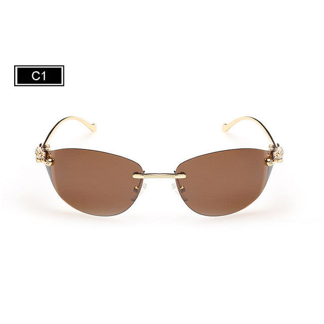 Stylish Rimless Cat Eye Sunglasses