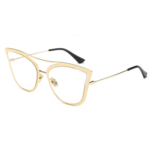 Cat Eye Alloy Leg and Plastic Frame - Multiple Colors