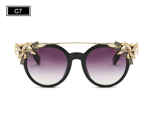 Crystal Flat Top Sunglasses