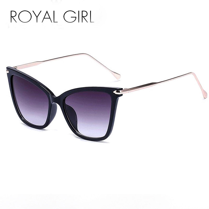 Cat Eye Metal Leg Sunglasses - Multiple Colors