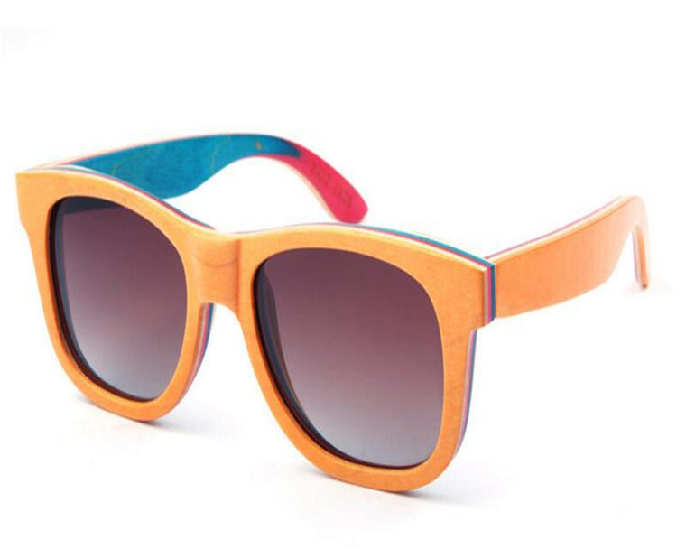 Multicolored Bamboo Sunglasses