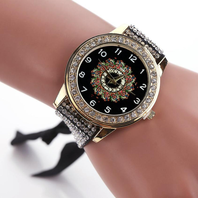 Beautiful Rhinestone Bracelet Watch