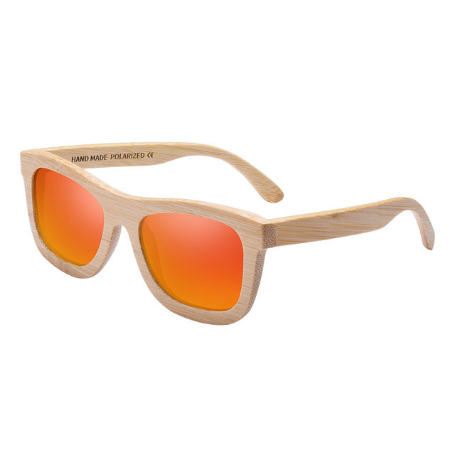 Bamboo Mirrored Sunglasses