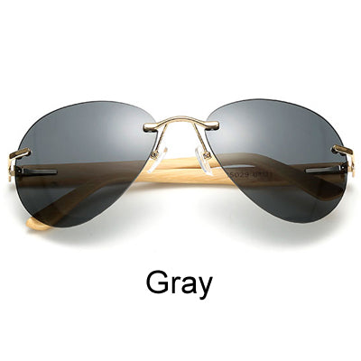 Rimless Bamboo Sunglasses