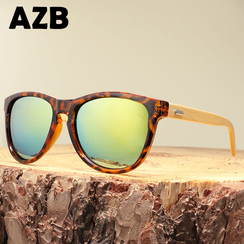 Retro Bamboo Grain Sunglasses