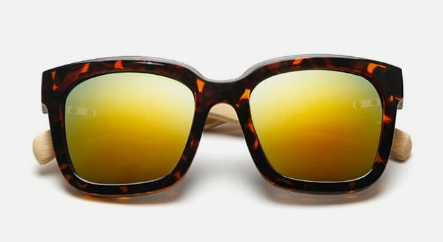 Bamboo-Look Cat Eyes Sunglasses