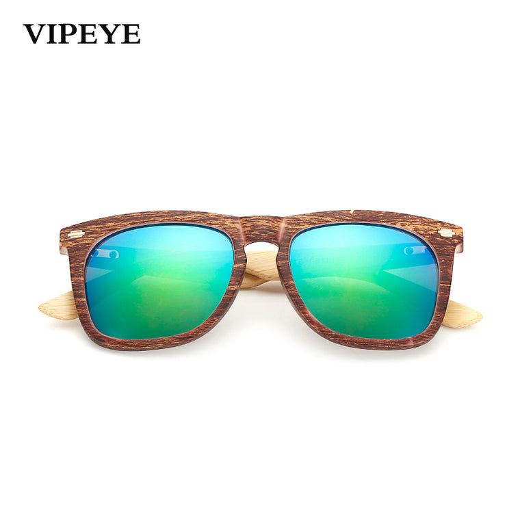 Mirror Bamboo Look Sunglasses