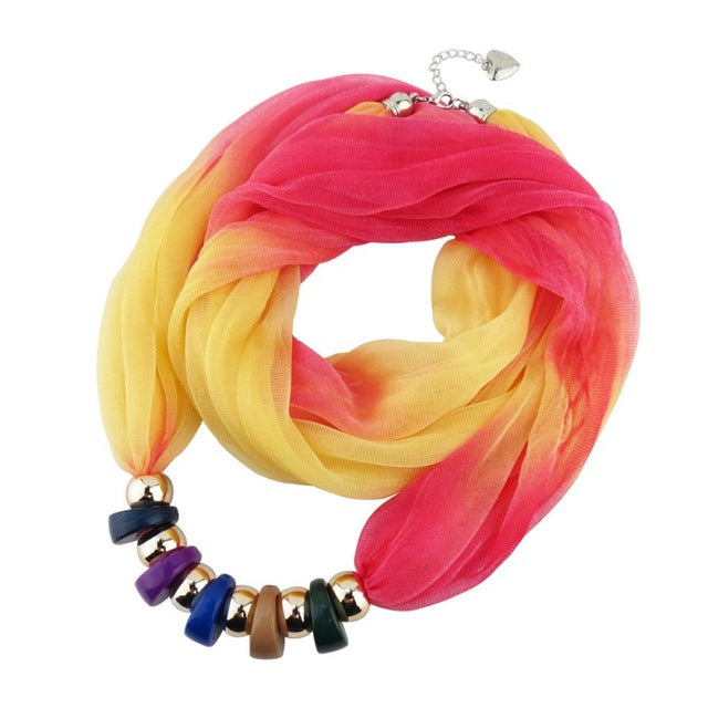 Colorful Pendant Scarf