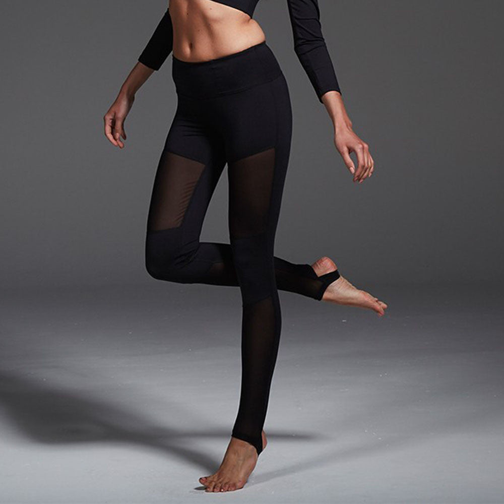 Mesh See Through Leggings with Stirrups