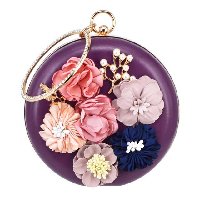 Lovely Silk Flower Handbag - 9 Colors