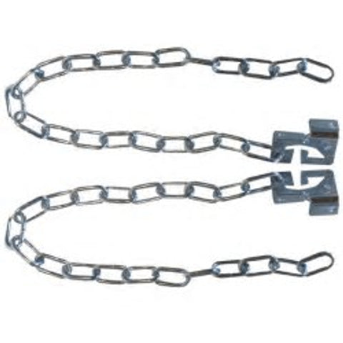 Rubbish Chute Bracket and Chain Pair