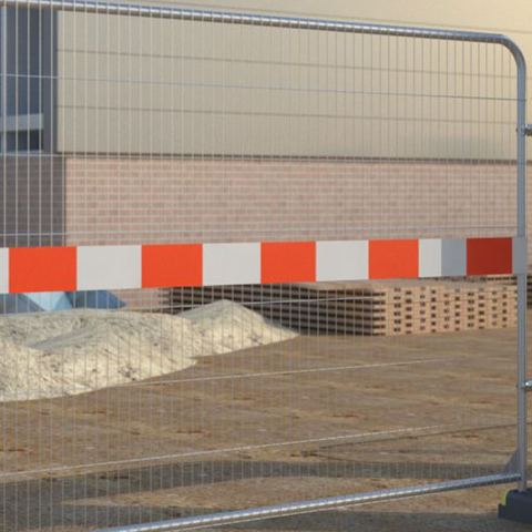 Temporary Fence Reflective Barrier Board -2m