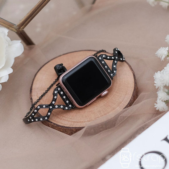 Apple Watch Strap - Black Bracelet 3 (38 mm / 40 mm II 42 mm / 44 mm) - Fstrap.id