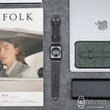 Apple Watch Strap - Black Greasy (38 mm / 40 mm II 42 mm / 44 mm) - Fstrap.id