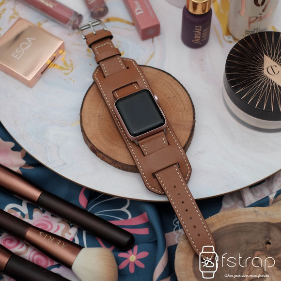 Apple Watch Strap - Brown Cuff (38mm / 40mm II 42mm / 44mm) - Fstrap.id