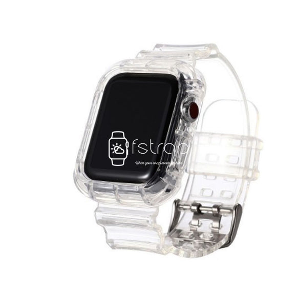 Apple Watch Strap Case - Clear Transparent (38 mm / 40 mm || 42 mm / 44 mm) - Fstrap.id