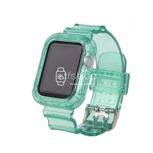 Apple Watch Strap Case - Green Transparent (38 mm / 40 mm || 42 mm / 44 mm) - Fstrap.id