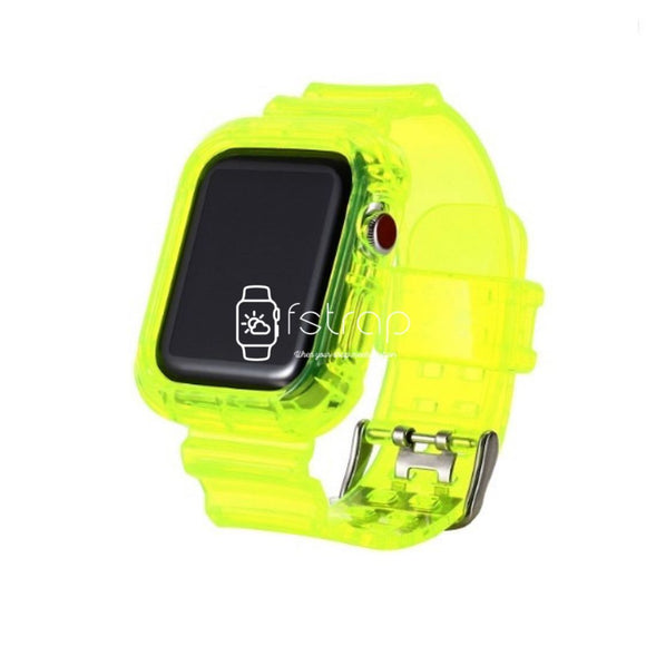 Apple Watch Strap Case - Yellow Transparent (38 mm / 40 mm || 42 mm / 44 mm) - Fstrap.id