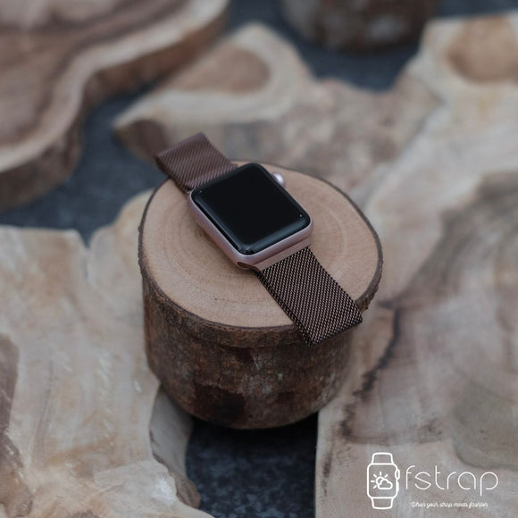 Apple Watch Strap - Coffee Milanese (38 mm / 40 mm II 42 mm / 44 mm) - Fstrap.id