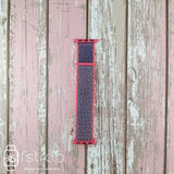 Apple Watch Strap - Grey Red Loop (38 mm / 40 mm II 42 mm / 44 mm) - Fstrap.id
