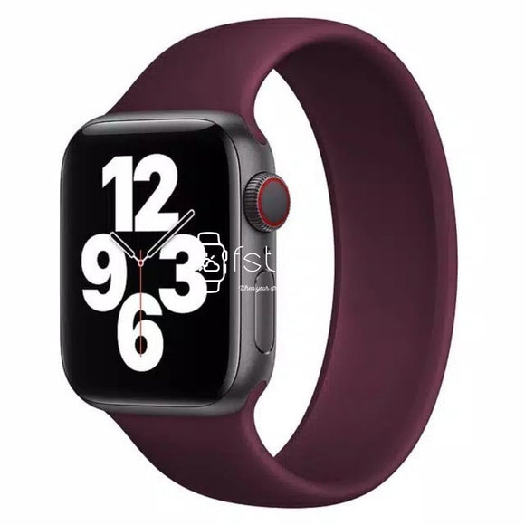 Apple Watch Strap - Maroon Solo Loop (38 mm / 40 mm || 42 mm / 44 mm) - Fstrap.id