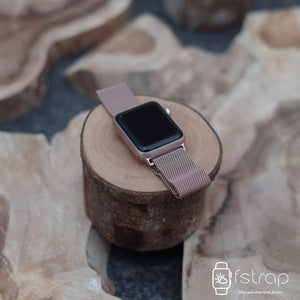 Apple Watch Strap - Pink Gold Milanese (38 mm / 40 mm II 42 mm / 44 mm) - Fstrap.id