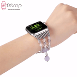 Apple Watch Strap - Purple Silver Beads (38mm / 40mm II 42mm / 44mm) - Fstrap.id