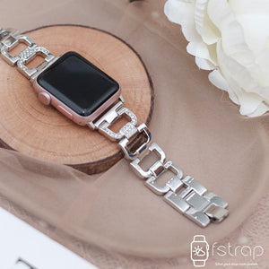 Apple Watch Strap - Silver Diamond 2 (38mm / 40mm II 42mm / 44mm) - Fstrap.id