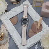 Apple Watch Strap - White With Brown Floral (38 mm / 40 mm II 42 mm / 44 mm) - Fstrap.id