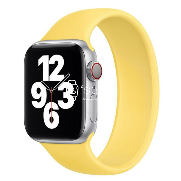 Apple Watch Strap - Yellow Solo Loop (38 mm / 40 mm || 42 mm / 44 mm) - Fstrap.id