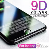Tempered Glass for iPhone - Black - Fstrap.id