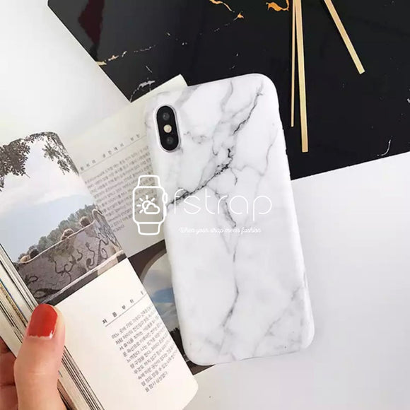 White Crack Marble Case - Fstrap.id
