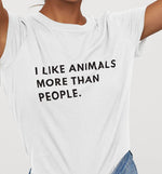 I Like Animals | Womens Fitted Tee