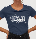Runs On Veggies | Womens Fitted Tee