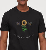 Bee Happy & Live Cruelty-Free | Vegan Mens Tee