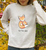 For Fox Sake | Vegan Crewneck