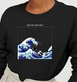Keep The Ocean Blue | Vegan Crewneck