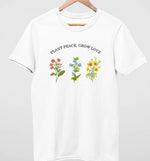 Plant Peace Grow Love | Vegan Womens Tee