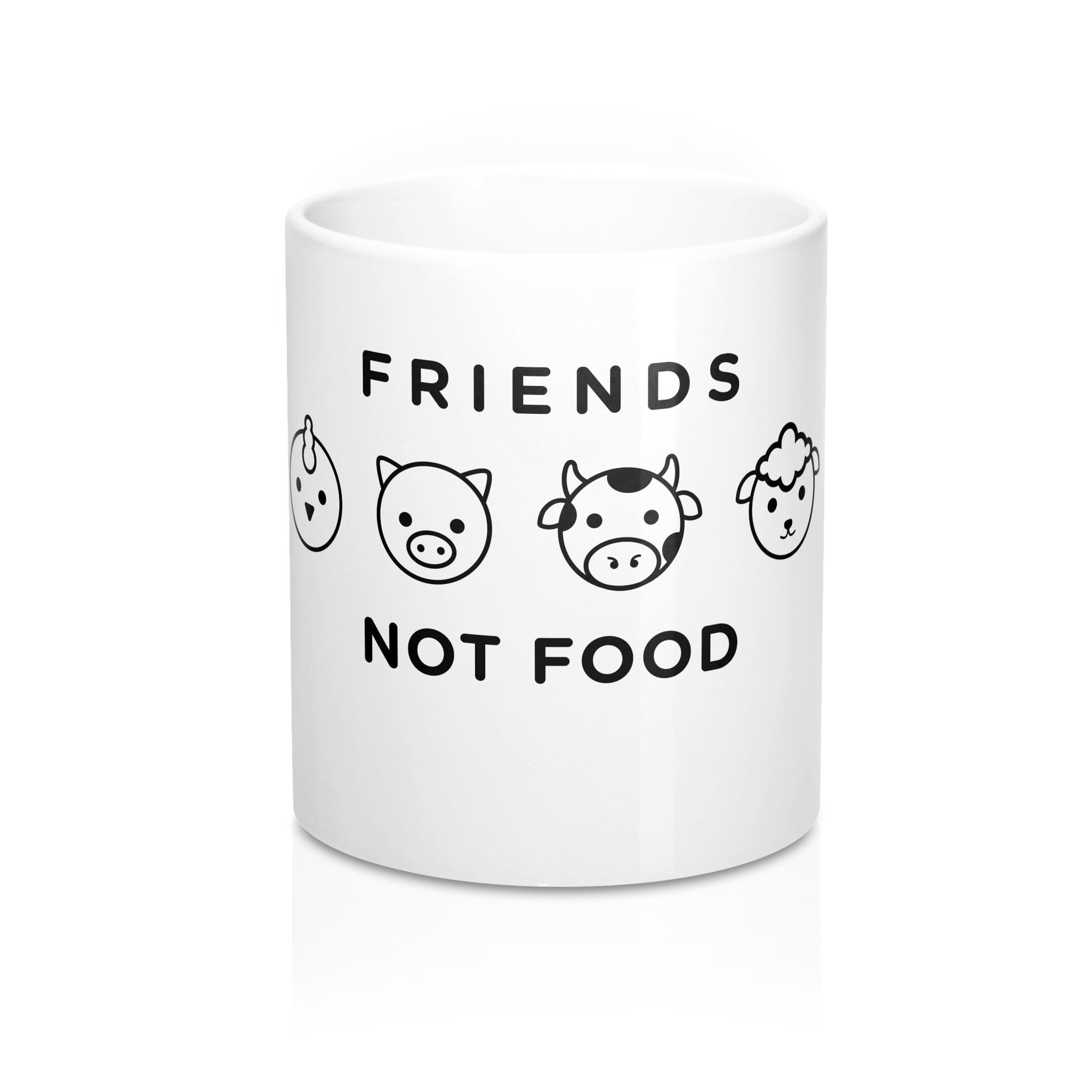 The Vegan Vibe Store Mug Mug 11oz Friends not Food | Mug