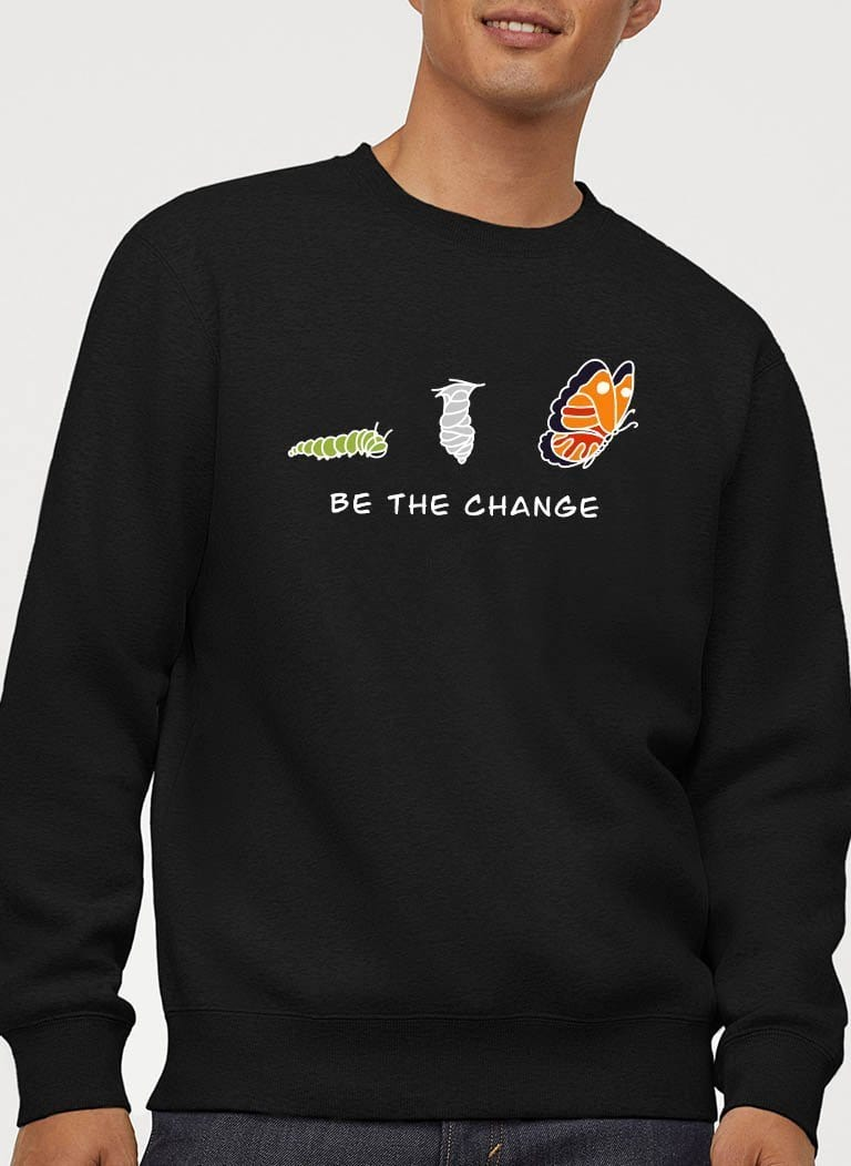 The Vegan Vibe Store Sweatshirt Be The Change | Vegan Crewneck