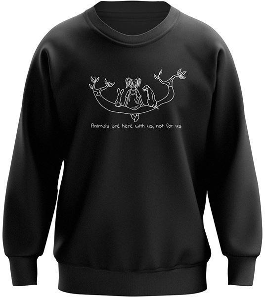 The Vegan Vibe Store Sweatshirt With Animals | Vegan Crewneck (Female Edition)