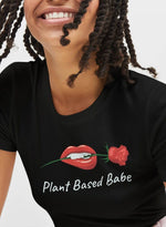 The Vegan Vibe Store T-Shirt Black / S Plant Based Babe | Vegan Womens Tee