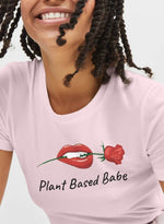 The Vegan Vibe Store T-Shirt Light Pink / S Plant Based Babe | Vegan Womens Tee