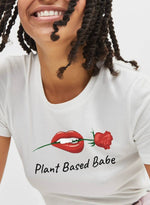 The Vegan Vibe Store T-Shirt White / S Plant Based Babe | Vegan Womens Tee