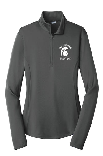 Ladies Spartan  1/4 Zip Pullover - Iron Grey