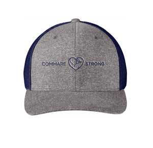 COMMARE STRONG -- Flexfit Mesh Back Trucker Cap -- Embroidered Logo